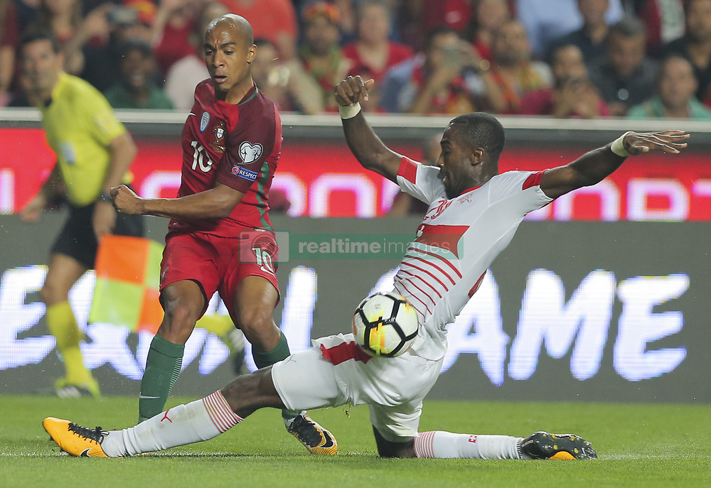 October 10, 2017 - Na - Lisbon, 10/10/2017 - The Portuguese football team received their Swiss counterpart tonight in the last game of the group stage to qualify for the 2018 FIFA World Cup in Russia , next June. Portugal won 2-0 to reach the final. João Mário  (Credit Image: © Atlantico Press via ZUMA Wire)