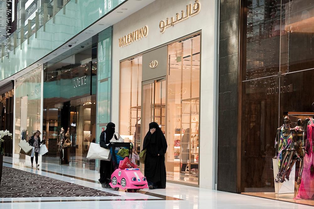 Arab women at Dubai Mall,Dubai, UAE on February 10,2010