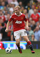 Craven Cottage, Fulham v Manchester United, Premier League 22/08/2010<br /> Paul Scholes of Manchester United in action<br /> Photo Marc Atkins  Fotosports International