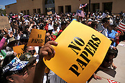 About 6,000 people marched in the La Gran Marcha on May 1, 2010, to Armory Park in Tucson, Arizona, USA. The focus of the march was the protest of the controversial bill SB1070 that takes aim at illegal immigration.