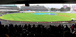 Cape Town.180207 Cricket lovers wait patiently for the rain to stop as they want to see the action today.The cricket game between South frica and India is delayed because of rain.  Picture:Xabiso Mkhabela