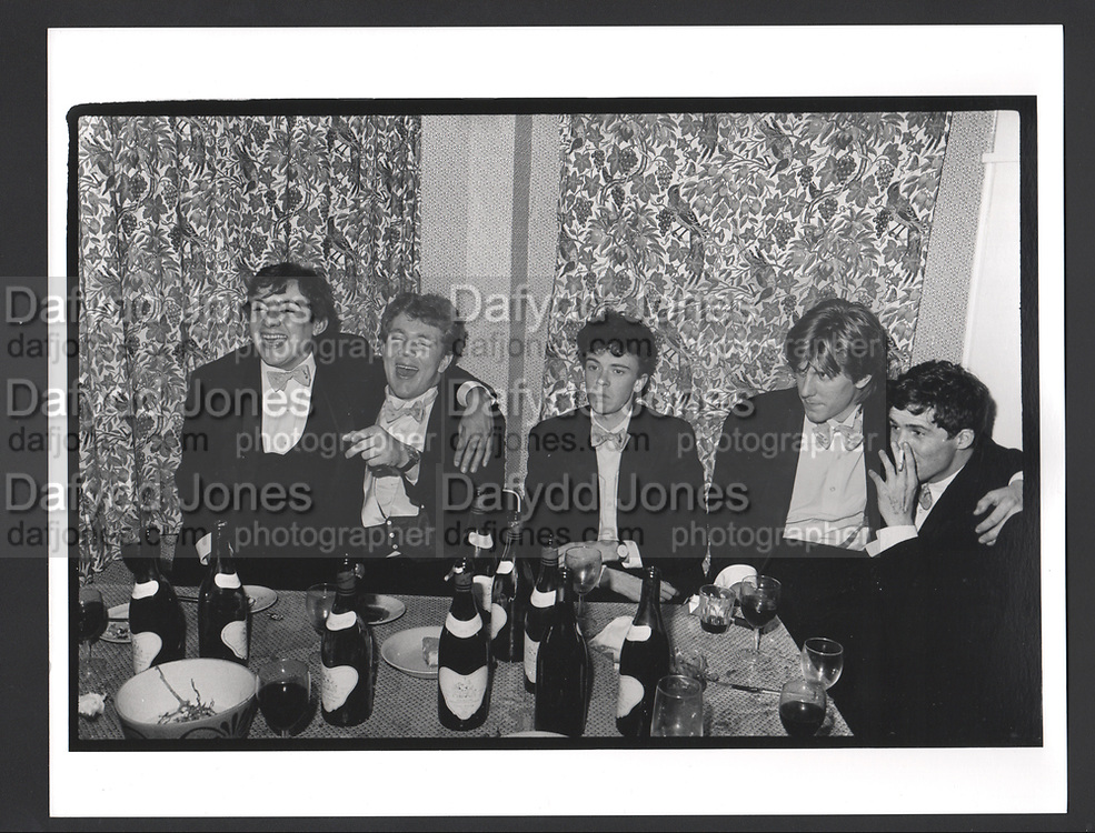 Piers Gaveston dinner. Norreys Ave, Oxford. 1980.. Exhibition in a Box