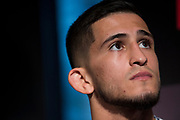 DALLAS, TX - MAY 10:  Sergio Pettis speaks to the media during the UFC 211 Ultimate Media Day at the House of Blues Dallas on May 10, 2017 in Dallas, Texas. (Photo by Cooper Neill/Zuffa LLC/Zuffa LLC via Getty Images) *** Local Caption *** Sergio Pettis