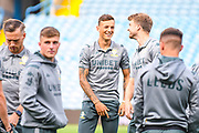 Leeds United defender Ben White (5) arrives at the ground during the EFL Cup match between Leeds United and Stoke City at Elland Road, Leeds, England on 27 August 2019.