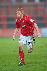 WREXHAM, WALES - Saturday, February 14, 2009: Wrexham's Marc Williams in action against Grays Athletic during the Blue Square Premier League match at the Racecourse Ground. (Mandatory credit: David Rawcliffe/Propaganda)
