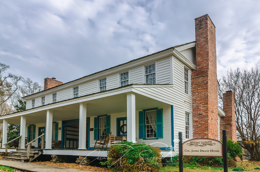 The Col. James Drane Home was built in 1845. It was dismantled by French Camp Academy staff and students and reassembled on the current site. (Photo by Carmen K. Sisson/Cloudybright)