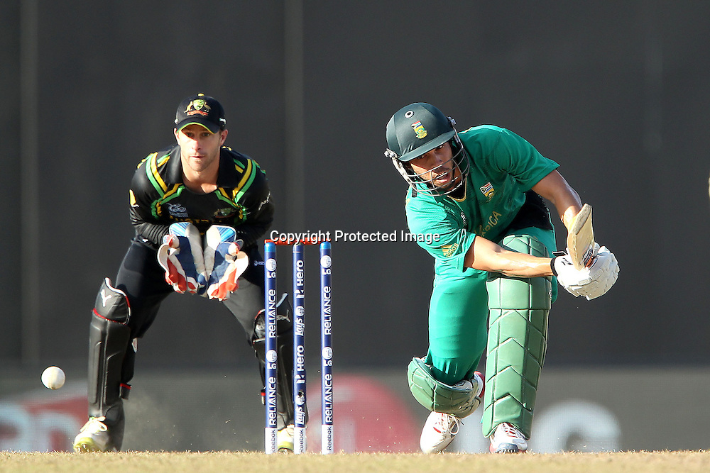 Farheen Behardien during the ICC World Twenty20 Super 8s match between Australia and South Africa held at the Premadasa Stadium in Colombo, Sri Lanka on the 30th September 2012<br /> <br /> Photo by Ron Gaunt/SPORTZPICS