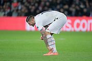 Mauro ICARDI (PSG) is feeling bad, reacted after been hurted during the UEFA Champions League, Group A football match between Paris Saint-Germain and Club Brugge on November 6, 2019 at Parc des Princes stadium in Paris, France - Photo Stephane Allaman / ProSportsImages / DPPI