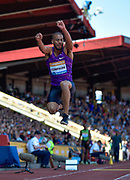 Benjamin Compaore of France leaps in the Triple Jump during the Sainsbury's Birmingham Grand Prix IAAF Diamond League Meeting at Alexandra Stadium, Birmingham, West Midlands, England on June  07  2015. (Steve Flynn/Image of Sport)