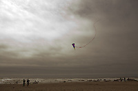 Kite Flying on the beach in Lincoln City, Oregon