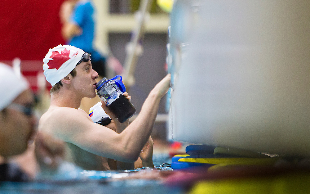 Eric Hedlin of the Canadian National Swim team during a training session at Commonwealth Pool on November 23, 2015 in Victoria, British Columbia Canada.
