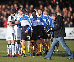Cambridge United v Plymouth Argyle, Sky Bet League Two Abbey Stadium, Saturday 4th February 2017. <br /> Score 0-1 (SARCEVIC)
