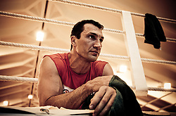 07.06.2011, Stanglwirt, Going, AUT, Wladimir Klitschko, Training, im Bild Wladimir Klitschko liegt nach Trainingsübungen am Boden und entspannt sich, Schweissgebadet - Attention look and colors were changed Digital - during a training session at Hotel Stanglwirt, Going, Austria on 7/6/2011. EXPA Pictures © 2011, PhotoCredit: EXPA/ J. Groder