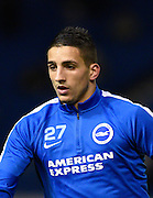 Brighton midfielder, Anthony Knockaert (27), before the Sky Bet Championship match between Brighton and Hove Albion and Brentford at the American Express Community Stadium, Brighton and Hove, England on 5 February 2016. Photo by David Charbit.