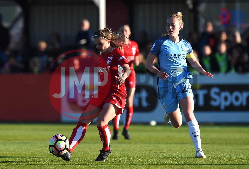 Poppy Wilson of Bristol City Women in action during the FA WSL 1 match between Bristol City Women and Manchester City Women at Stoke Gifford Stadium - Mandatory by-line: Paul Knight/JMP - 09/05/2017 - FOOTBALL - Stoke Gifford Stadium - Bristol, England - Bristol City Women v Manchester City Women - FA Women's Super League Spring Series