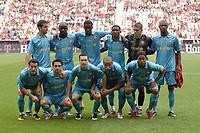 Fotball<br /> Foto: imago/Digitalsport<br /> NORWAY ONLY<br /> <br /> 15.08.2007  <br /> <br /> Mannschaftsfoto FC Barcelona, hi.v.li.: Oleguer Presas Renom, Lilian Thuram, Yaya Toure, Samuel Etoo, Torwart Victor Valdes, Eric Abidal; vorn Gianluca Zambrotta, Xavi, Andres Iniesta, Thierry Henry und Ronaldinho<br /> <br /> Lagbilde Barcelona