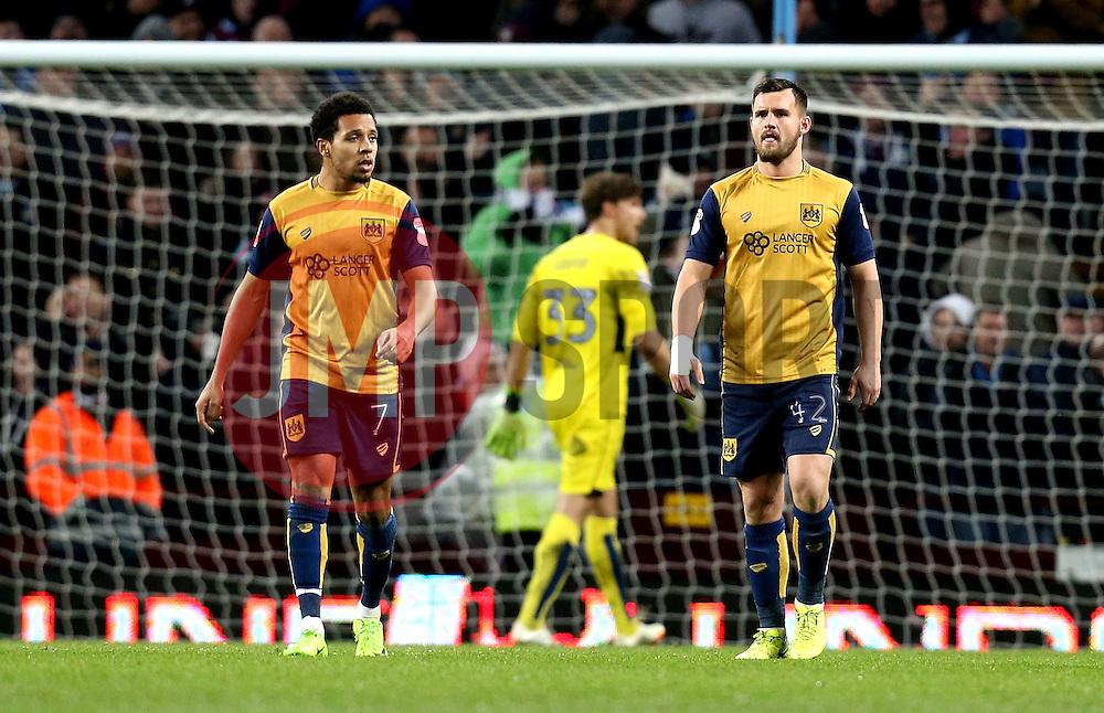 Bristol City players look frustrated after conceding a goal - Mandatory by-line: Robbie Stephenson/JMP - 28/02/2017 - FOOTBALL - Villa Park - Birmingham, England - Aston Villa v Bristol City - Sky Bet Championship
