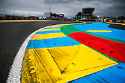 June 14-19, 2016: 24 hours of Le Mans. Le Mans circuit de la sarthe curb detail