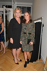 Left to right, TABITHA WEBB and PIPPA MIDDLETON at a party to celebrate the opening of the first Tabitha Webb Retail Store at 45 Elizabeth Street, London on 23rd September 2014.