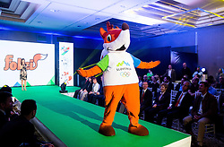 Mascot Foksi during official presentation of the Designer wear for Slovenian Athletes at Rio Summer Olympic Games 2016, on April 15, 2016 in Hotel Lev, Ljubljana, Slovenia. Photo by Vid Ponikvar / Sportida