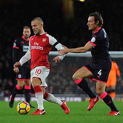 Jack Wilshere of Arsenal on the ball during Arsenal vs Huddersfield, Premier League, 29.11.17 (c) Harriet Lander | SportPix.org.uk