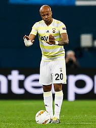 February 21, 2019 - Saint Petersburg, Russia - Andre Ayew of Fenerbahce SK gestures during the UEFA Europa League Round of 32 second leg match between FC Zenit Saint Petersburg and Fenerbahce SK on February 21, 2019 at Saint Petersburg Stadium in Saint Petersburg, Russia. (Credit Image: © Mike Kireev/NurPhoto via ZUMA Press)