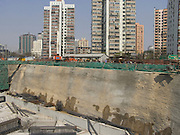 a large construction pit China Beijing