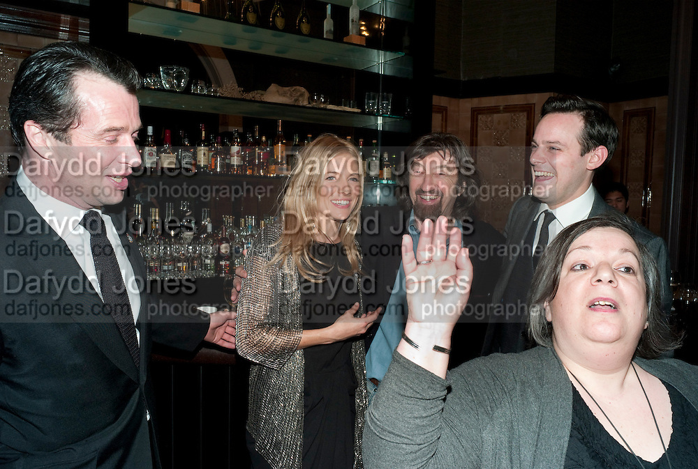 PHOTOCALL PUBLICIST IN THE FOREGROUND,  JAMES PUREFOY;  SIENNA MILLER; SIR TREVOR-NUNN; HARRY HADDEN-PATON,,, After -party celebrating the Gala Preview of the new west end production of Flare Path, Whitehall. March 10 2011.  -DO NOT ARCHIVE-© Copyright Photograph by Dafydd Jones. 248 Clapham Rd. London SW9 0PZ. Tel 0207 820 0771. www.dafjones.com.