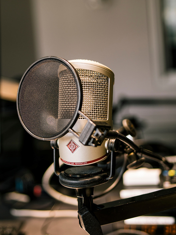 Diane Rehm's microphone at the Diane Rehm Show studio.