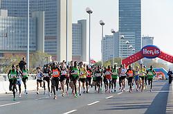 17.04.2011, AUT, Vienna City Marathon 2011, im Bild kurz nach dem Start, Joseph Lomala Kimosop (KEN, #13), Dimitry Baranovsky (UKR, #3), Josphat Keiyo (KEN, #16), Patrick Ivuti (KEN, #6), Joseph Ngeny (KEN, #8), Gladson Barbosa (BRA, #36), Mariusz Gizynski (POL, #20), Nicholas Chelimo (KEN, #5), Wilson Kigen (KEN, #9), EXPA Pictures © 2011, PhotoCredit: EXPA/ G. Holoubek