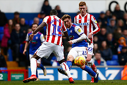 Teddy Bishop of Ipswich Town plays a pass - Mandatory by-line: Phil Chaplin/JMP - 16/02/2019 - FOOTBALL - Portman Road - Ipswich, England - Ipswich Town v Stoke City - Sky Bet Championship
