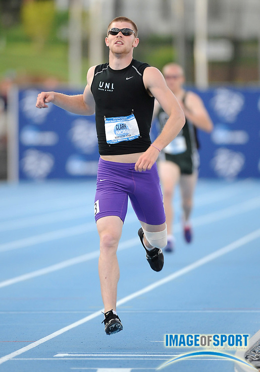 Jun 12, 2008; Des Moines, IA; Mat Clark of Northern Iowa had the best mark in the decathlon 1,500m at 4:17.31 in the NCAA Track & Field Championships at Drake Stadium  Clark finished 10th with 7,430 points.