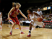 Maryland recruit Marah Strickland charges the baseline during the McDonald's All American High School Basketball Games at Freedom Hall in Louisville, Kentucky on March 28, 2007.