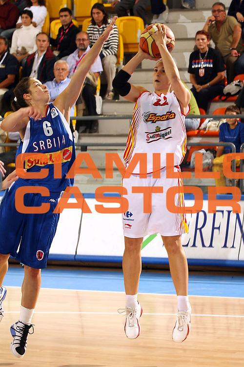 DESCRIZIONE : Ortona Italy Italia Eurobasket Women 2007 Spagna Serbia Spain Serbia<br /> GIOCATORE : Anna Montanana<br /> SQUADRA : Spagna Spain<br /> EVENTO : Eurobasket Women 2007 Campionati Europei Donne 2007<br /> GARA : Spagna Serbia Spain Serbia<br /> DATA : 25/09/2007<br /> CATEGORIA : Tiro<br /> SPORT : Pallacanestro <br /> AUTORE : Agenzia Ciamillo-Castoria/E.Pozzo<br /> Galleria : Eurobasket Women 2007<br /> Fotonotizia : Ortona Italy Italia Eurobasket Women 2007 Spagna Serbia Spain Serbia<br /> Predefinita :