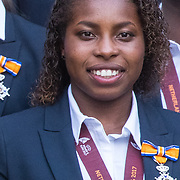 NLD/Den Haag/20171025 - Koning ontvangt winnaar EK voetbal Vrouwen 2017, Lineth Beerensteyn