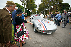 © Licensed to London News Pictures. <br /> 13/09/2019. . <br /> Goodwood.West, Sussex. UK.<br /> The Goodwood Motor Circuit celebrates the 21st year of the Revival.This has become one of the biggest annual historic motorsport events in the world and the only one to be staged entirely in period dress. Each year over 150,000 people descend on this quiet corner of West Sussex to enjoy the three-day event.<br /> Pictured. A Ferrari GT250<br /> <br /> Photo credit: Ian Whittaker/LNP
