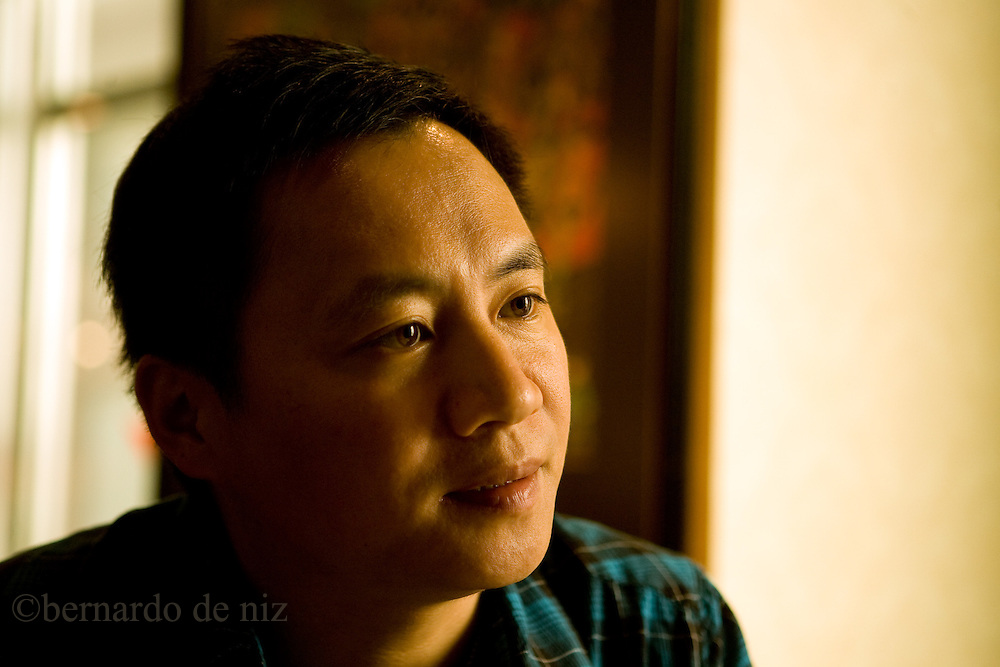 Wang Dan, members of the leaders of the Tiananment dissident,   who protested in 1989, speak during an interview in Taipei, Taiwan, on Thursday  May, 21, 2009. Photographer: Bernardo De Niz