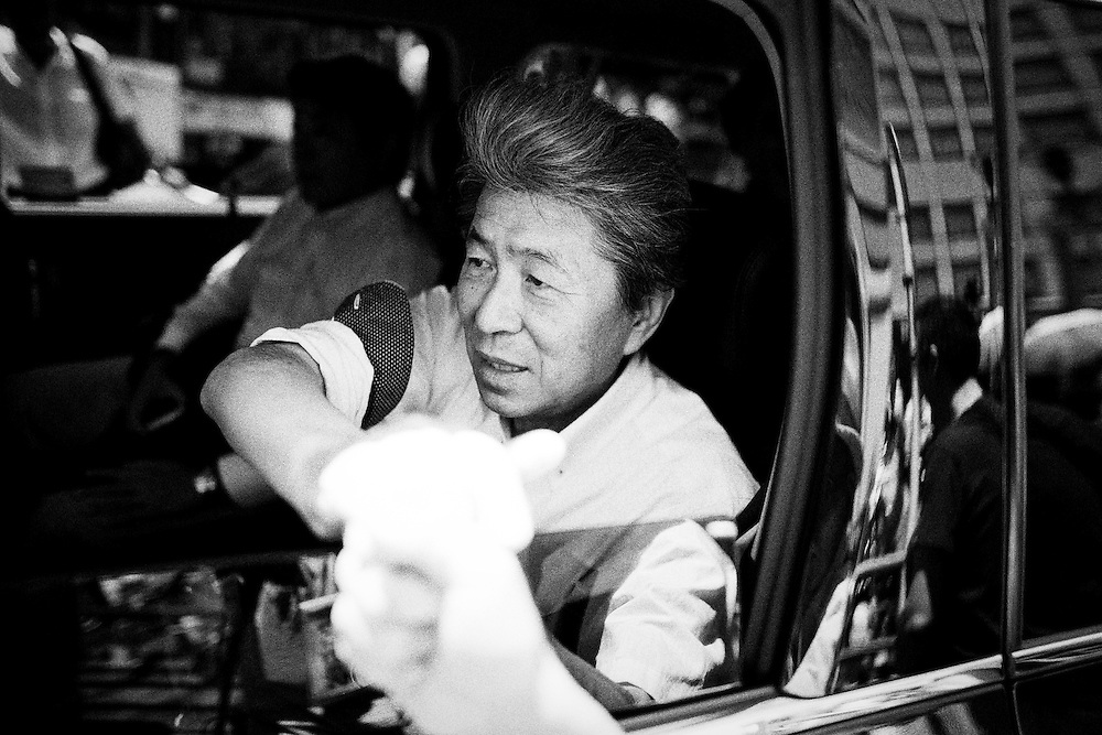 TOKYO, JAPAN - JULY 30 : Journalist Shuntaro Torigoe, a candidate for Tokyo governor shake hands with people after his speech during the last day of Tokyo Gubernatorial Election campaign rally at Hachiōji Station, Tokyo, Japan on Saturday, July 30, 2016. Tokyo residents will vote on July 31 for a new Governor of Tokyo who will deal with issues related to the hosting of the Tokyo Summer Olympics and Paralympics in 2020. (Photo: Richard Atrero de Guzman/NUR Photo)