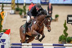 MOELLER Joerg (GER), Casado<br /> Leipzig - Partner Pferd 2020<br /> Glas Strack Speed Cup<br /> Zeitspringprfg., international<br /> Höhe: 1.45 m<br /> 18. Januar 2020<br /> © www.sportfotos-lafrentz.de/Stefan Lafrentz