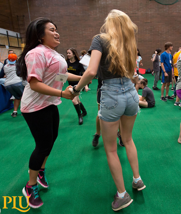 Lutes at Play, part of orientation for incoming students at PLU on Friday, Sept. 5, 2014. (Photo/John Froschauer)