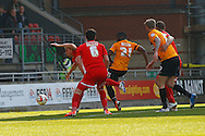 Aaron McLean of Bradford City (21) scores the opening goal during the Sky Bet League 1 match at the Matchroom Stadium, London<br /> Picture by David Horn/Focus Images Ltd +44 7545 970036<br /> 29/03/2014
