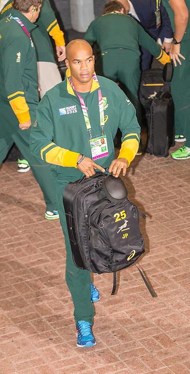 South Africa JP Pietersen arrives at St. James PArk. South Africa v Scotland, 3rd October 2015