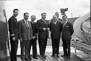 """""""Echo"""" a new ship to sail the Holland Ireland line, visits Dublin Port. A reception was held on board the ship, docked at North Wall.<br /> 08.08.1961"""