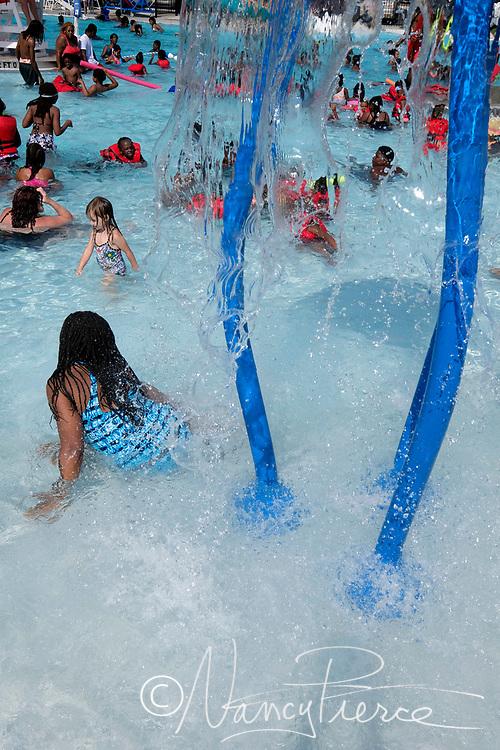 Double Oaks Pool a few weeks after opening