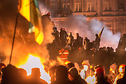 Kiev, Ukraine. Massive anti-goverment protests after President Yanukovych declared deeper integration with Russia rather then United Europe.