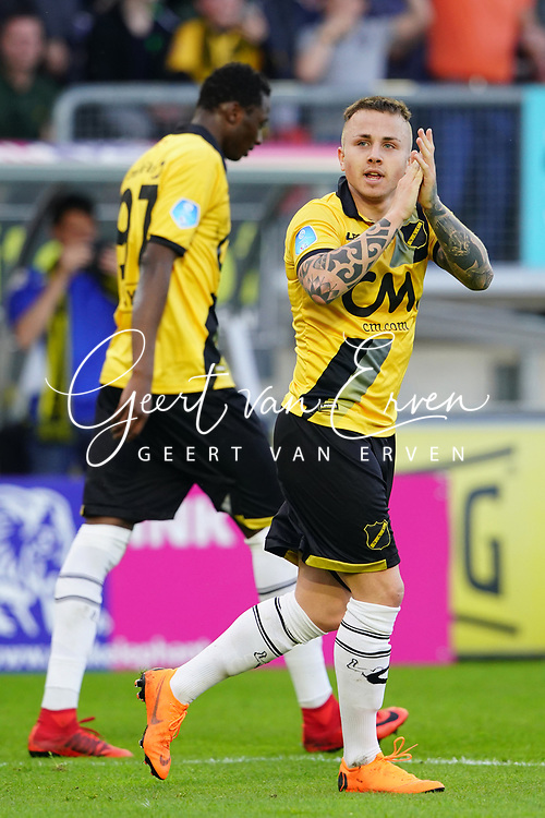 *Jose Angel Esmoris Tasende Angelino* of NAC Breda celebrates 1-0