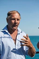 Local whale researcher Richard Costin addresses passengers onboard Sea Shepherd's The Steve Irwin during Operation Kimberley Minimbii.