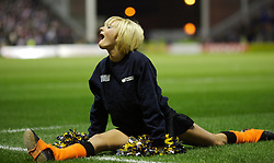 Warrington, England - Friday, March 9, 2007: A Warrington Wolves Starlight cheerleader during the Super League XII Round 3 match at the Halliwell Jones Stadium. (Pic by David Rawcliffe/Propaganda)