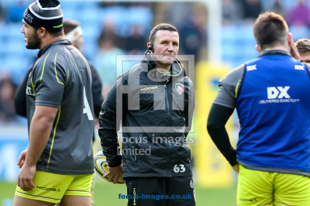 Leicester Tigers head coach Aaron Mauger (centre) during the Aviva Premiership match at the Ricoh Arena, Coventry<br /> Picture by Andy Kearns/Focus Images Ltd 0781 864 4264<br /> 08/01/2017