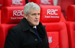 Stoke City manager Mark Hughes - Mandatory by-line: Alex James/JMP - 11/02/2017 - FOOTBALL - Bet365 Stadium - Stoke-on-Trent, England - Stoke City v Crystal Palace - Premier League